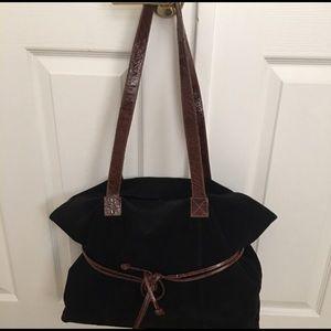 Handbags - large Black Suede Bag